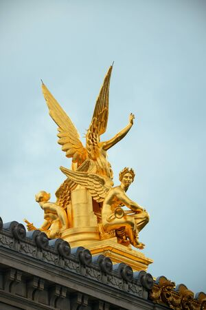 Historical Statue of Paris Opera in France.