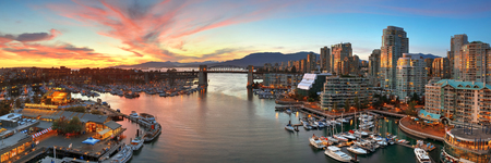 ethnically diverse: VANCOUVER, BC - AUG 17: Vancouver bay aerial view on August 17, 2015 in Vancouver, Canada. With 603k population, it is one of the most ethnically diverse cities in Canada. Editorial