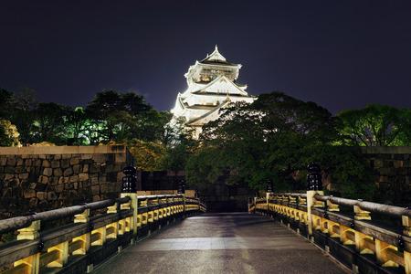 historical landmark: Osaka Castle at night as the famous historical landmark of the city. Japan.