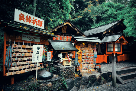 former years: KYOTO, JAPAN - MAY 18: Old building in Shrine on May 18, 2013 in Kyoto. Former imperial capital of Japan for more than one thousand years, it has the name of City of Ten Thousand Shrines. Editorial