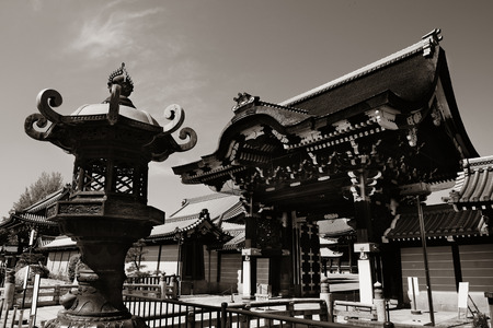 ancient japanese: Shrine with historical building in Kyoto, Japan.