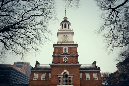 historical landmark: Independence Hall as the historical Landmark in Philadelphia Stock Photo