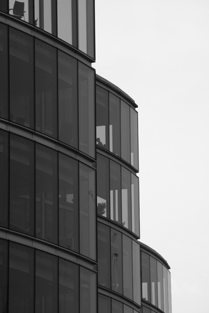 building exteriors: Modern office building in London business district.