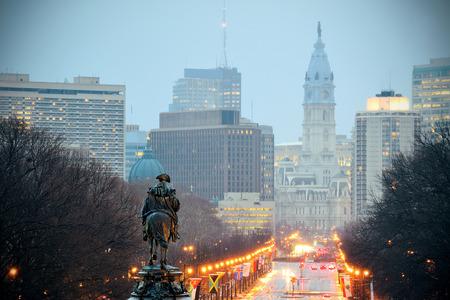 george washington statue: George Washington statue oand street in Philadelphia
