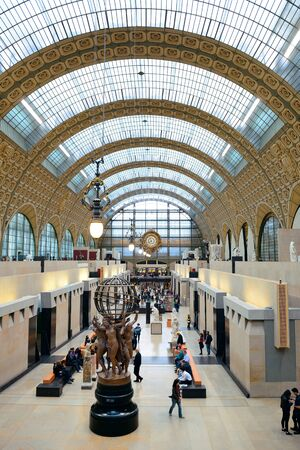 PARIS, FRANCE - MAY 13: DOrsay interior view on May 13, 2015 in Paris. It host the worlds largest collection of impressionist and post-impressionist masterpieces.