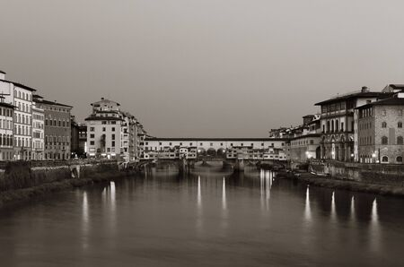 ponte vecchio: Ponte Vecchio over Arno River in Florence Italy. Stock Photo