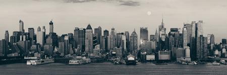 New York City skyscrapers urban view.