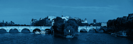 ile de la cite: River Seine and historical architecture in ile de la cite in Paris, France. Stock Photo