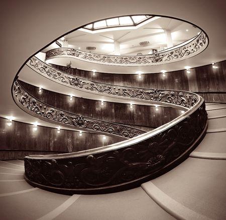 Spiral staircase in Vatican Museum. Reklamní fotografie - 72147858