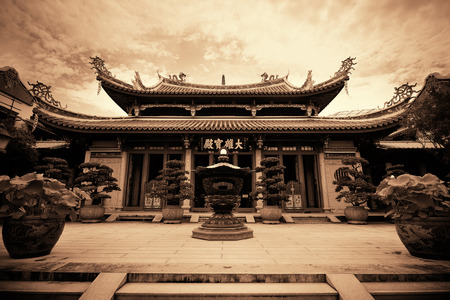 urban culture: Chinese Buddhism temple in Singapore Editorial