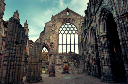 history building: Holyrood Abbey in Edinburgh United Kingdom.