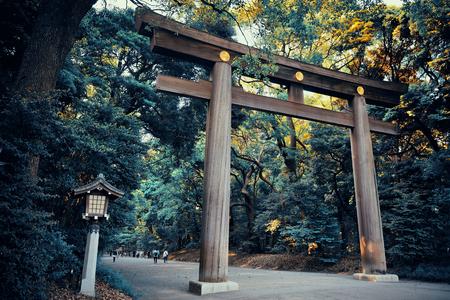 Portal of Meiji Jingu Shrine. Tokyo, Japan. Sajtókép