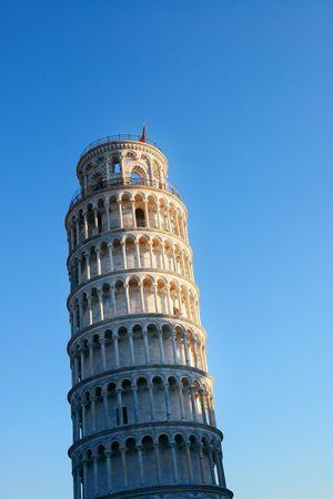 世界中の有名なランドマークとしてイタリア、ピサの斜塔。 写真素材