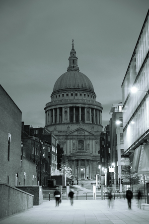 british english: St Pauls cathedral in London as the famous landmark. Stock Photo