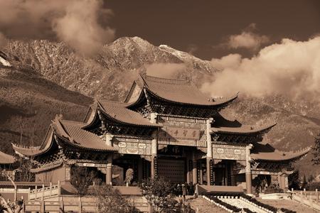 blackwhite: Chongsheng Monastery portal in Dali, Yunnan, China Stock Photo