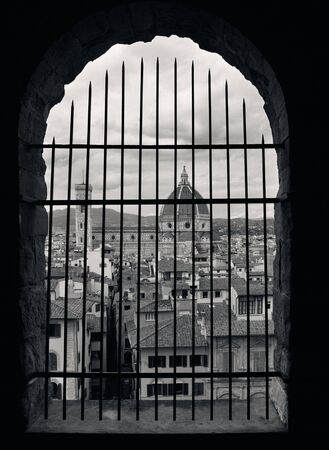 fense: Duomo Santa Maria Del Fiore in Florence Italy viewed from bell tower.