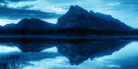 Vermillion Lake sunrise in Banff National Park in Canada