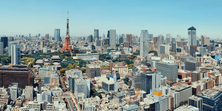 東京タワーと都市のスカイラインを一望、日本。 報道画像