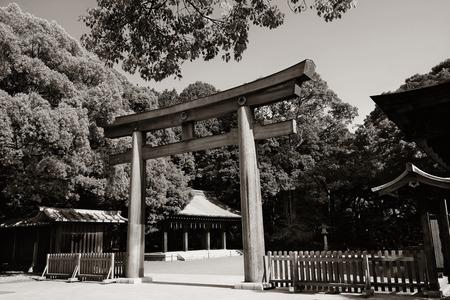 Portal of Meiji Jingu Shrine. Tokyo, Japan. Stock fotó