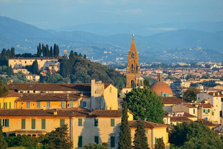 City skyline in Florence rooftop view in Italy