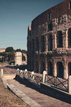 amphitheatre: Colosseum is the symbolic architecture of Rome and Italy Stock Photo