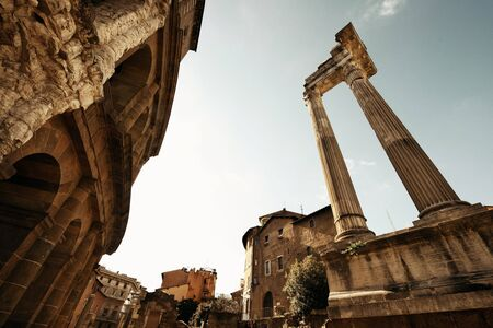 amphitheatre: Marcello's Theatre with historical ruins in Rome, Italy Stock Photo