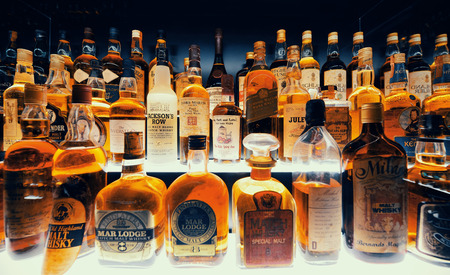 the british museum: Scottish Whisky collection in Edinburgh.
