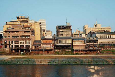 교토 도시 건축 풍경, 일본입니다.