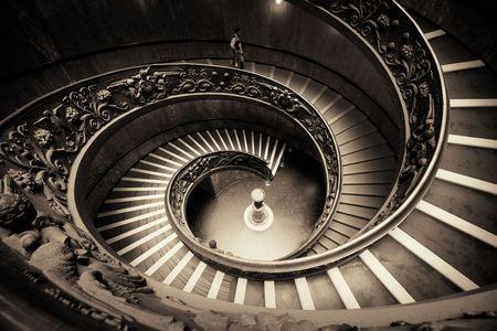 Wendeltreppe in Vatikan Museum.