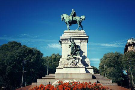 Giuseppe Garibaldi monument in Milan, Italy.