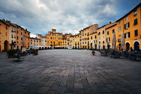 Piazza dell Anfiteatro in Lucca Italy