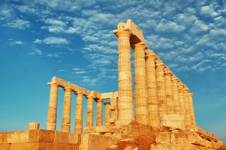 Temple of Poseidon near Athens, Greece.