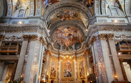 ROME - MAY 12: Beautiful interior from The Church of St. Ignatius of Loyola on May 12, 2016 in Rome, Italy. Rome ranked 14th in the world, and 1st the most popular tourism attraction in Italy. Editorial