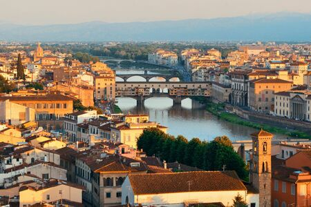 Florence skyline viewed from Piazzale Michelangelo Stock Photo