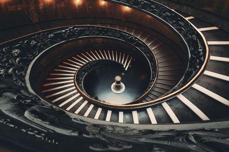 バチカン美術館にあるらせん階段。