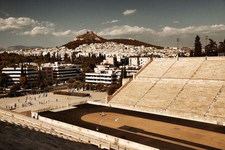 Panathenaic stadium in Athens, Greece.