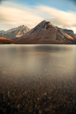 Lake sunrise with cloud in Banff National Park, Canada Stock Photo