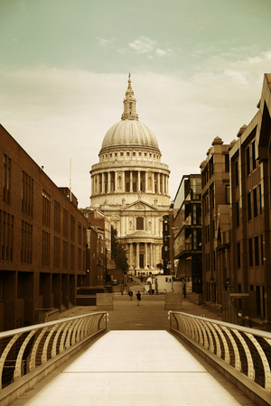 St Pauls Cathedral closeup in London.