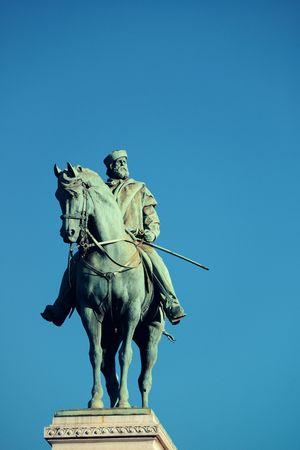 Giuseppe Garibaldi Monument in Milan, Italy. Stock fotó