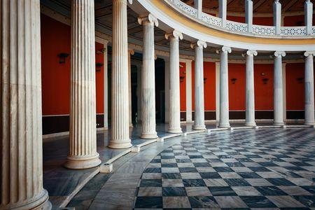 아테네, 그리스에서 2016 년 9 월 26 일에 Zappeion 홀의 아테네 -9 월 26 일에 (서) : 확대 사진보기. 일반적으로 공식 및 사적인 모임과 의식에 사용됩 에디토리얼