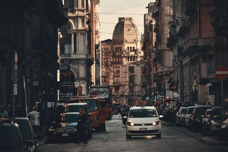 MILAN - MAY 24: street view on May 24, 2016 in Milan, Italy. Milan is the second most populous in Italy and the main industrial and financial center. Editorial
