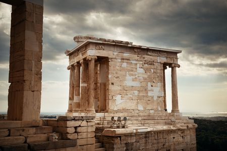 Temple of Athena in Acropolis in Athens, Greece.