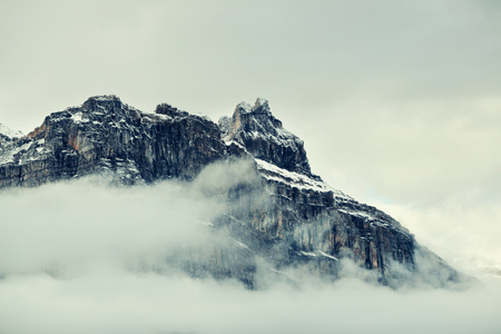 Foggy mountain and cloud in Banff National Park, Canada Banco de Imagens