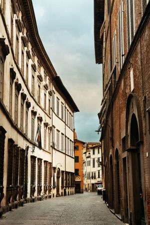 Lucca street view in Italy