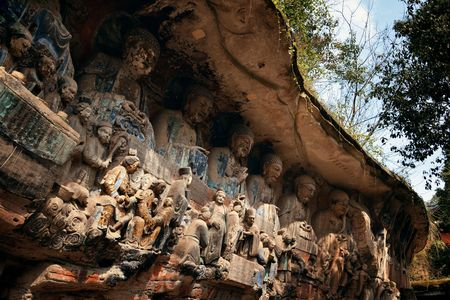 Dazu Rock Carvings   located in suburb Chongqing, China