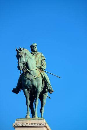 Giuseppe Garibaldi Monument in Milan, Italy. Stock Photo