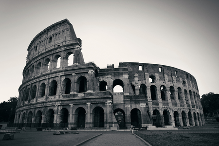 Colosseum is the symbolic architecture of Rome and Italy in monochrome 免版税图像