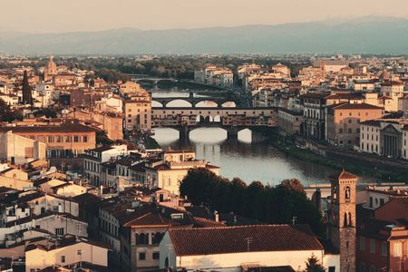 Florence skyline viewed from Piazzale Michelangelo Stockfoto