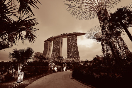 SINGAPORE - APR 5: Garden by the Bay on April 5, 2013 in Singapore. It is part of a government strategy aimed to raise the quality of life by enhancing greenery and flora in Singapore. Editöryel