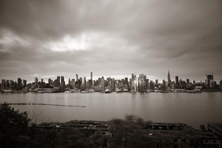 Manhattan midtown skyscrapers and New York City skyline Stock Photo